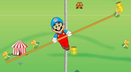 Captura de pantalla - Mario en la cuerda