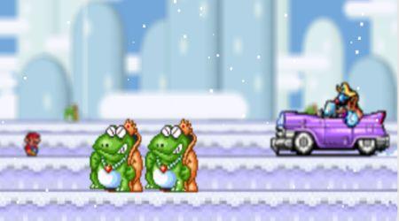 Captura de pantalla - Mario en la nieve